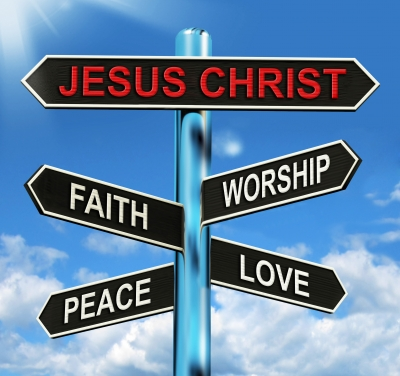 Jesus sign post
